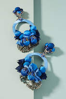 Ranjana Khan Cobalt Flower Drop Earrings