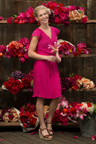 Shabby Apple Wild Tulip Sheath Dress Magenta