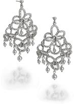 Brooks Brothers Pave Bow Chandelier Earrings