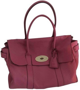 Mulberry Bayswater tote Pink Leather Handbags