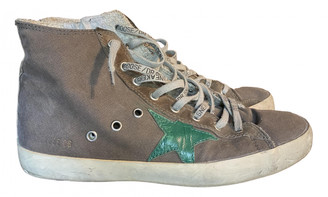 Golden Goose Francy Brown Cloth Trainers