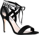 Nina Jeweled Ankle High Heel Sandals - Collina