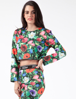Jaded London Garden Floral L/S Crop Top