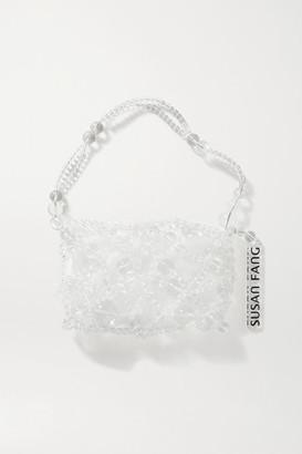 Susan Fang Bubble Net Beaded Tote - Clear