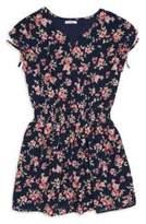 Ella Moss Girl's Floral-Print Chiffon Dress