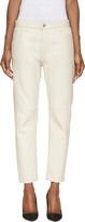 Etoile Isabel Marant Ecru Washed Leather Bay Trousers