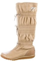 Sorel Leather Ruched Boots