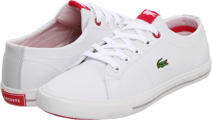 Lacoste Kids - Marcel CIK FA12 (Toddler/Youth) (White/Light Grey) - Footwear