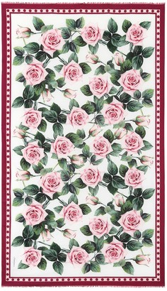 Dolce & Gabbana Floral cotton scarf