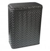 Redmon Elegante Collection Decorator Color Wicker Hamper 423BK