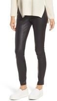 Women's Nordstrom Signature Lizard Leather Stretch Leggings