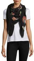 Saint Laurent Floral Wool Scarf
