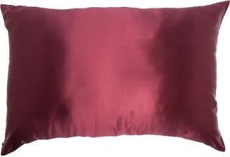 Slip Embroidered Logo Silk Pillowcase