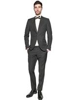 Z Zegna Houndstooth Textured Wool Tuxedo