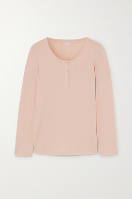 Hanro Cotton And Modal-blend Pajama Top - Neutral