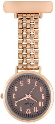 Bermuda Watch Company Annie Apple Grey/Rose Gold Link Bracelet Nurse Fob Watch