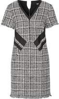 Karl Lagerfeld Fringed Cotton-Blend Tweed Mini Dress