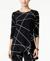 Alfani Printed Jersey Swing Top, Created for Macy's