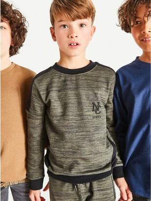 M&Co Panel crew neck sweatshirt (3-12yrs)