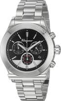 Salvatore Ferragamo Men's '1898' Swiss Quartz Stainless Steel Casual Watch, Color:Silver-Toned (Model: FFM080016)