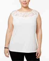 Kasper Plus Size Illusion Top