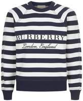Burberry Cashmere-Blend Logo Sweater