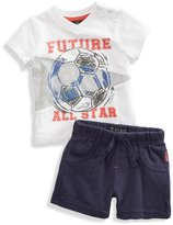 GUESS Pennant Tee and Shorts Set (0-9m)