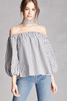 Forever 21 FOREVER 21+ Striped Choker Top