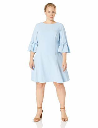 Eliza J Women's Ruffle Sleeve Fit and Flare Dress