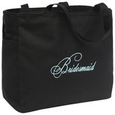 Hortense B. Hewitt Bridesmaid Diamond Wedding Gift Tote Bag - Black
