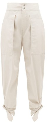 Isabel Marant Gaviao Tie-cuff Cotton Trousers - Womens - Ivory
