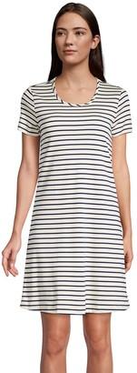 Lands' End Women's Supima Cotton Short Sleeve Short Nightgown