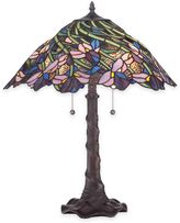 Quoizel Queens Meadow 2-Light Table Lamp with Tiffany Glass Shade