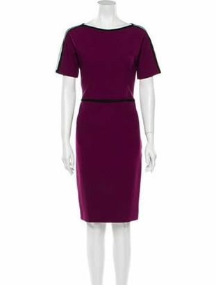 Gucci Bateau Neckline Knee-Length Dress Purple