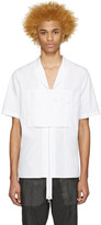 Hood by Air White Poplin Moma Zip Shirt