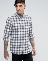 Jack Wills Salcombe Check Shirt In Regular Fit In Flannel Blue/White