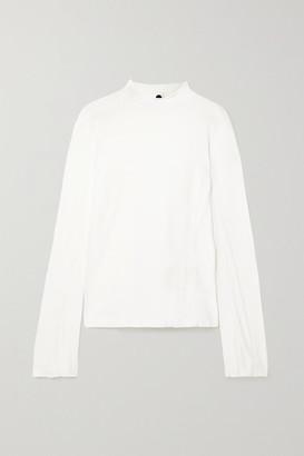 Bassike Net Sustain Organic Cotton-jersey Top