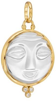 Temple St. Clair Celestial Crystal, Diamond & 18K Yellow Gold Moonface Pendant
