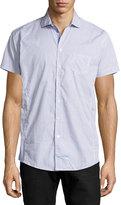 English Laundry Net-Print Short-Sleeve Sport Shirt, Blue