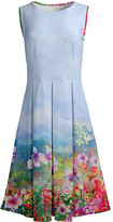 Lily Women's Casual Dresses BLU - Blue & Pink Floral Sleeveless Fit & Flare Dress - Women & Plus