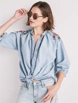 Lucky Brand Peasant Shirt W Embroider