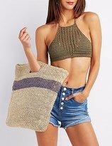 Charlotte Russe Crochet Halter Crop Top