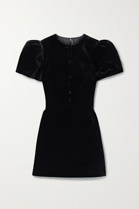 The Vampire's Wife The Heartbreaker Cotton-velvet Mini Dress - Black