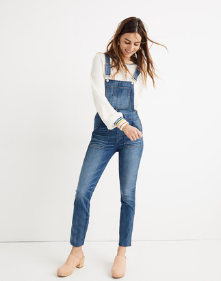 Madewell Petite Skinny Overalls in Jansing Wash