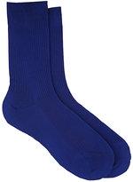 Maria La Rosa Women's Rib-Knit Silk Mid-Calf Socks