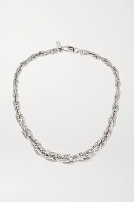 LAUREN RUBINSKI Small 14-karat White Gold Necklace - one size