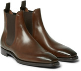 Gaziano & Girling - Burnham Burnished-leather Chelsea Boots