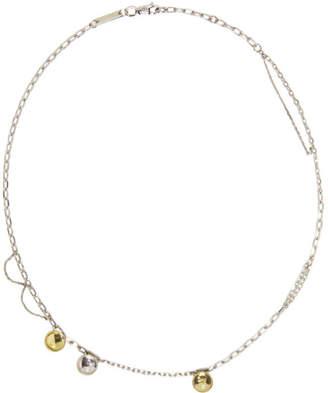 Avgvst Jewelry Silver and Yellow Rhinestone Citrine Choker