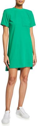 Alice + Olivia Catalina Strong-Shoulder T-Shirt Dress