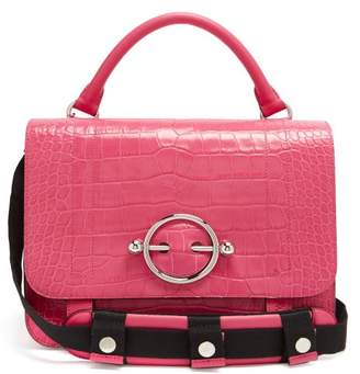 J.W.Anderson Crocodile Effect Leather Bag - Womens - Pink